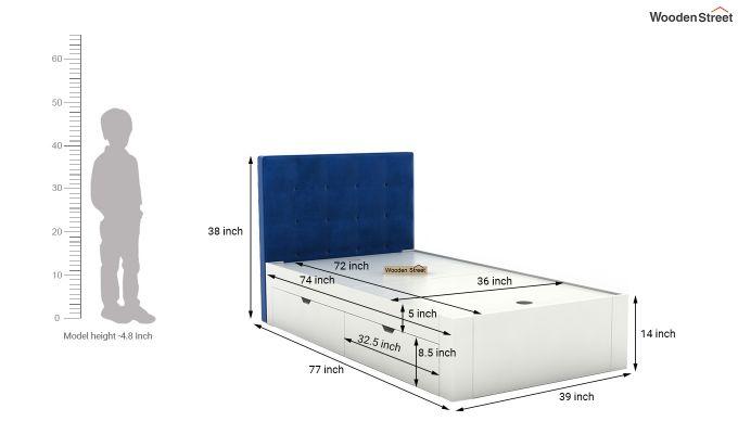 Wagner Kids Bed With Storage (Indigo Blue)-7