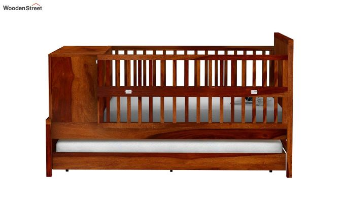 Carson Kids Trundle Bed With Crib (Honey Finish)-3