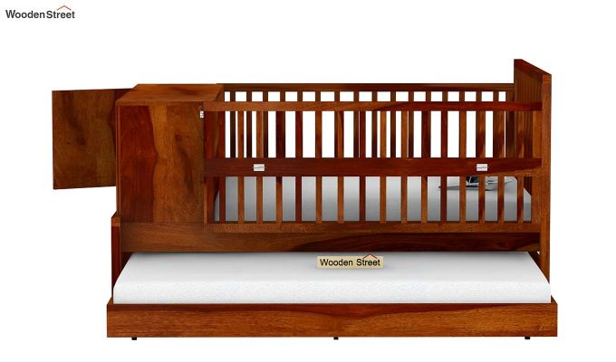 Carson Kids Trundle Bed With Crib (Honey Finish)-6