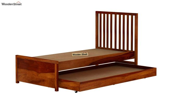 Carson Kids Trundle Bed With Crib (Honey Finish)-8
