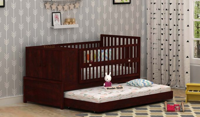 Carson Kids Trundle Bed With Crib-1