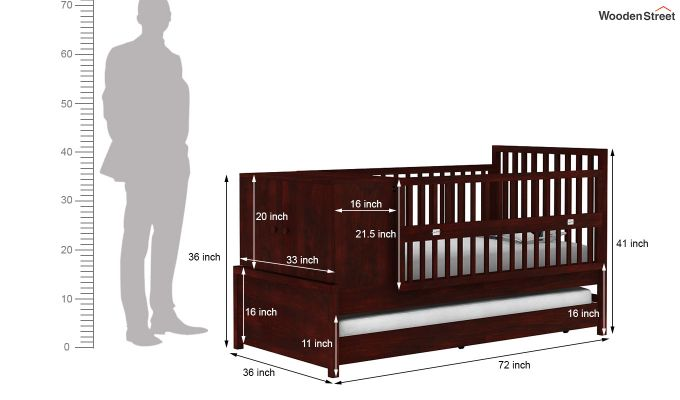 Carson Kids Trundle Bed With Crib-10