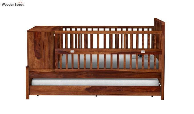 Carson Kids Trundle Bed With Crib (Teak Finish)-3