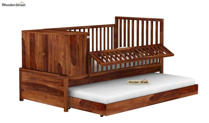 Carson Kids Trundle Bed With Crib (Teak Finish)-4