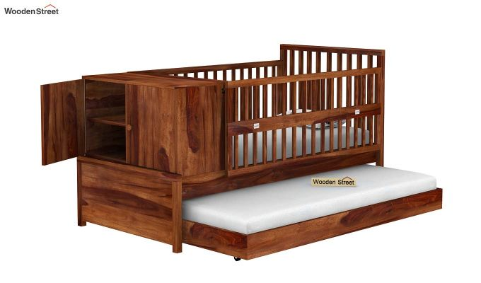 Carson Kids Trundle Bed With Crib (Teak Finish)-5