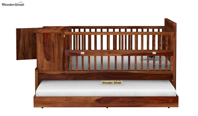 Carson Kids Trundle Bed With Crib (Teak Finish)-6