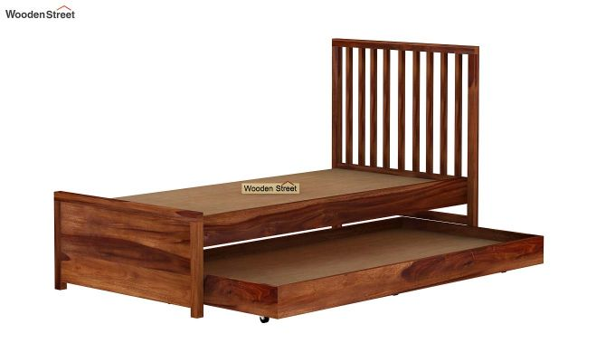 Carson Kids Trundle Bed With Crib (Teak Finish)-8