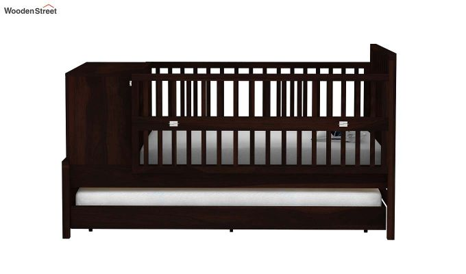 Carson Kids Trundle Bed With Crib (Walnut Finish)-3