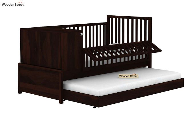 Carson Kids Trundle Bed With Crib (Walnut Finish)-4