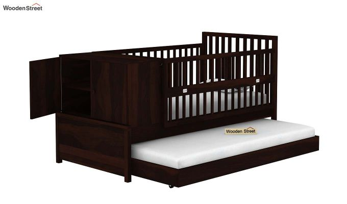 Carson Kids Trundle Bed With Crib (Walnut Finish)-5