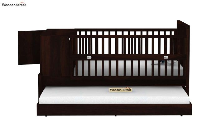 Carson Kids Trundle Bed With Crib (Walnut Finish)-6