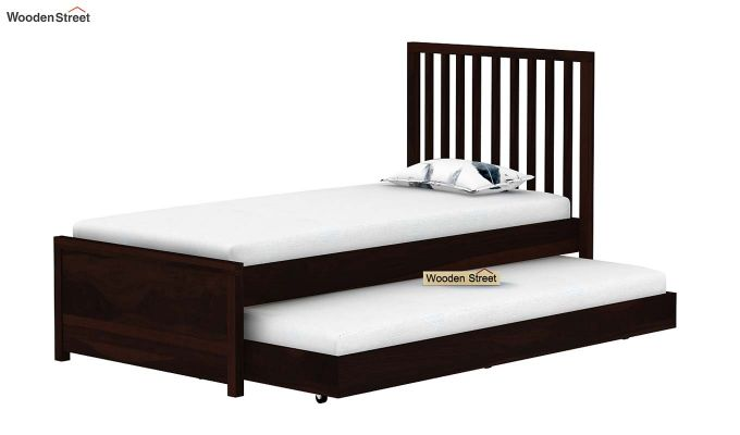 Carson Kids Trundle Bed With Crib (Walnut Finish)-7