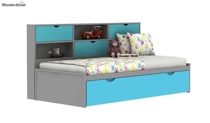 Chris Kids Trundle Bed (Grey & Blue)-2
