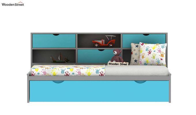 Chris Kids Trundle Bed (Grey & Blue)-3