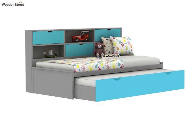 Chris Kids Trundle Bed (Grey & Blue)-4