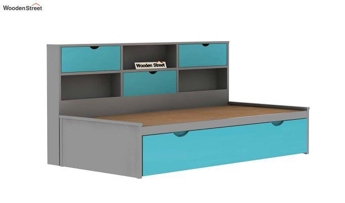 Chris Kids Trundle Bed (Grey & Blue)-5