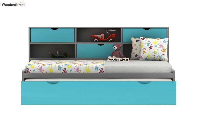 Chris Kids Trundle Bed (Grey & Blue)-6