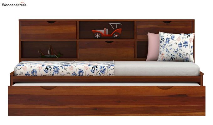 Chris Kids Trundle Bed (Honey Finish)-4