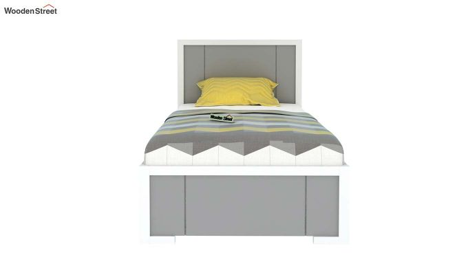 Gary Kids Trundle Bed With Storage (Grey & White)-3