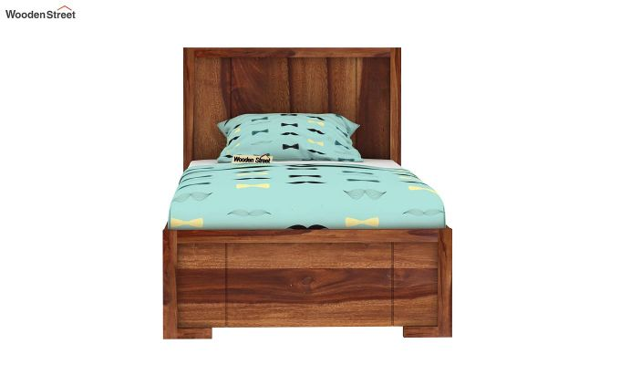 Gary Kids Trundle Bed With Storage (Teak Finish)-2