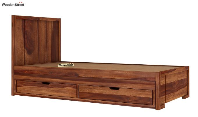 Gary Kids Trundle Bed With Storage (Teak Finish)-5