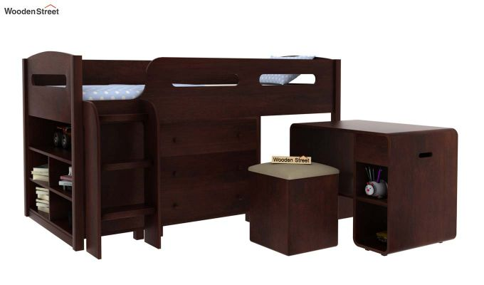 Lucifer Kids Bed With Storage (Walnut Finish)-2
