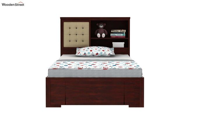 Nova Kids Trundle Bed With Storage (Mahogany Finish)-3