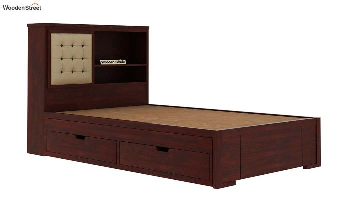Nova Kids Trundle Bed With Storage (Mahogany Finish)-7