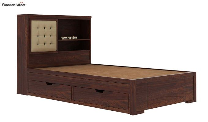 Nova Kids Trundle Bed With Storage (Walnut Finish)-7