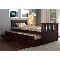 Pear Kids Trundle Bed With Storage