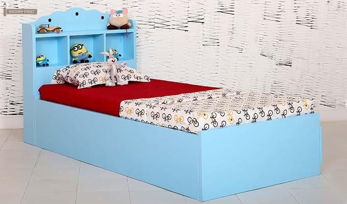 Pearl Kids Bed With Storage (Blue)-2