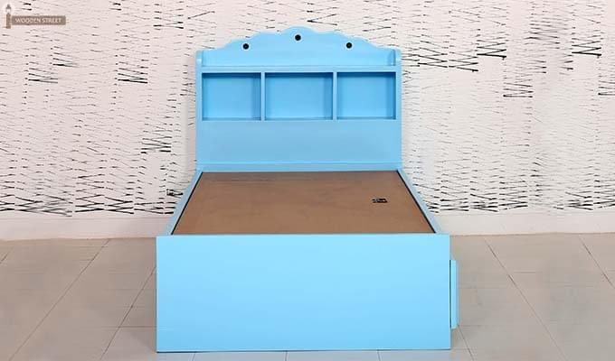 Pearl Kids Bed With Storage (Blue)-4