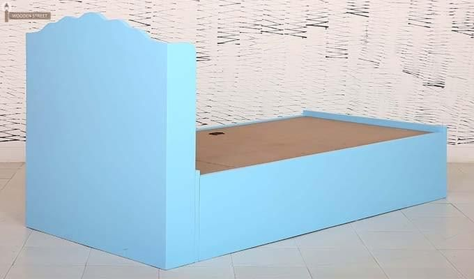 Pearl Kids Bed With Storage (Blue)-8
