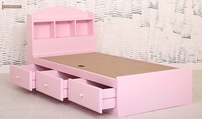 Pearl Kids Bed With Storage (Pink)-3