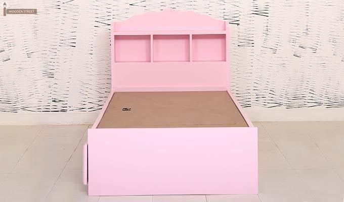 Pearl Kids Bed With Storage (Pink)-4