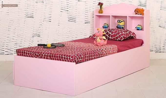 Pearl Kids Bed With Storage (Pink)-5