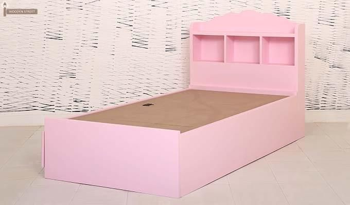 Pearl Kids Bed With Storage (Pink)-6