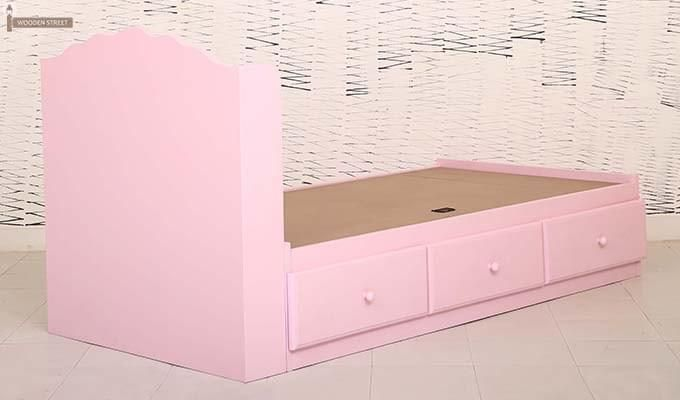 Pearl Kids Bed With Storage (Pink)-7