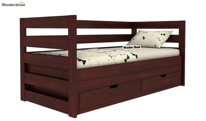 Slumber Kids Trundle Bed With Storage (Mahogany Finish)-2
