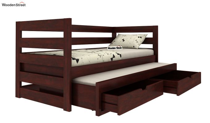 Slumber Kids Trundle Bed With Storage (Mahogany Finish)-5
