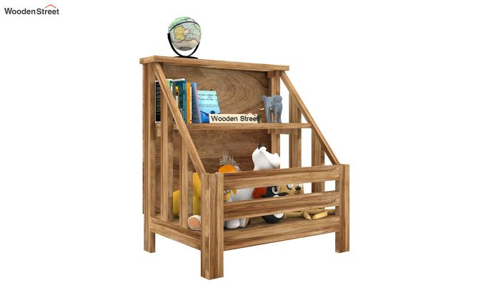 Campton Kids Storage Rack (Natural Finish)-2
