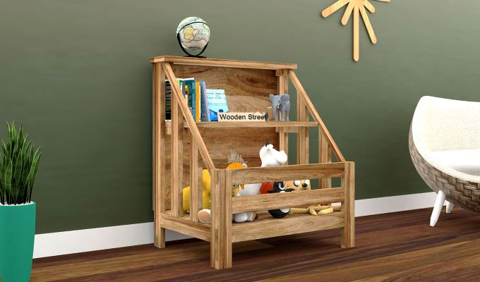 Campton Kids Storage Rack (Natural Finish)-1
