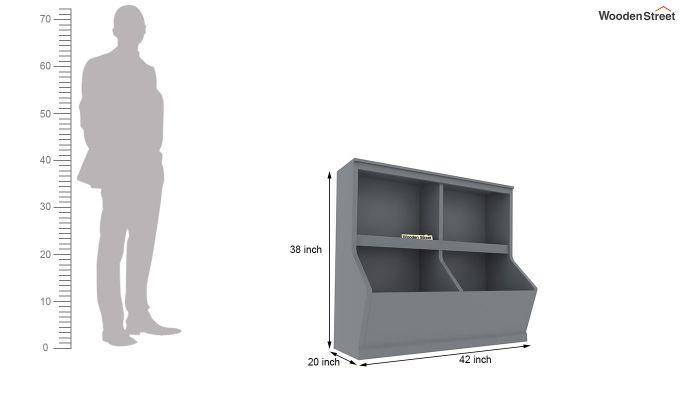 Damian Kids Storage Unit (Grey Color)-5