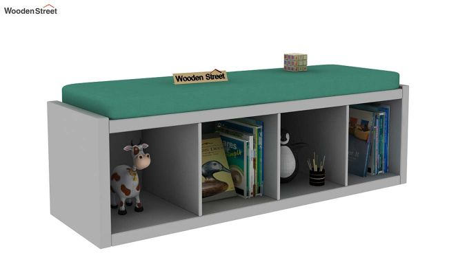 Eleanor Kids Bench Cum Storage Unit (Grey)-2