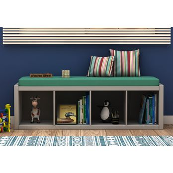 kids storage furniture, kids bench cum shelf
