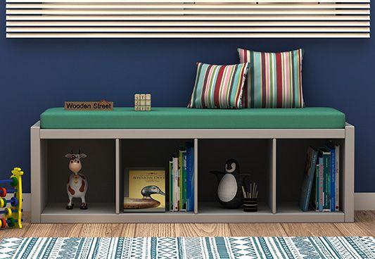kids storage furniture, kids bench cum shelf