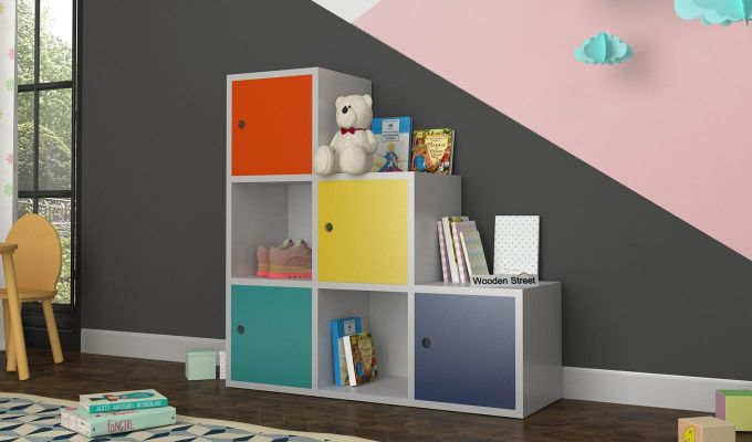 Wykin Kids Storage Unit (Multi Color)-1