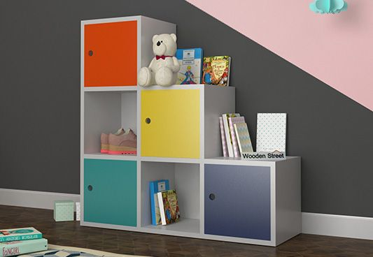multi color kids storage unit & Kids Storage : Buy Kids Storage Furniture Online at Wooden Street