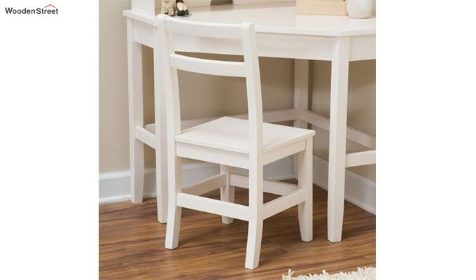 Athena Corner Desk and Reversible Hutch (White Finish)-2