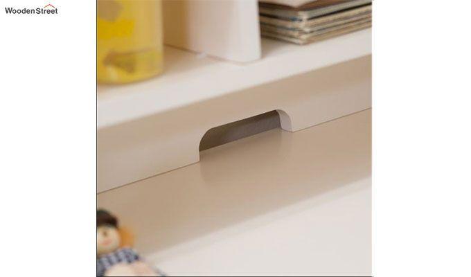 Athena Corner Desk and Reversible Hutch (White Finish)-5